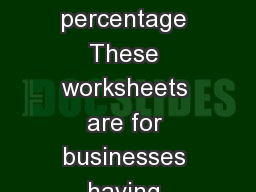 Web Worksheets for computing Oregon apportionment percentage These worksheets are for businesses having business activities both inside and outside of Oregon