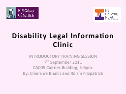 Disability Legal Information Clinic