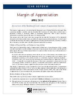 An overview of the Strasbourg Courts margin of appreciation doctrine