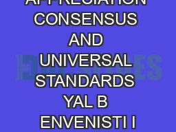 MARGIN OF APPRECIATION CONSENSUS AND UNIVERSAL STANDARDS YAL B ENVENISTI I
