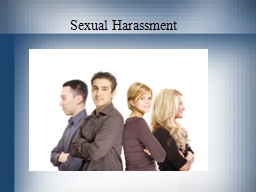Sexual Harassment