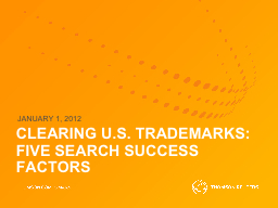 CLEARING U.S. TRADEMARKS: PowerPoint PPT Presentation