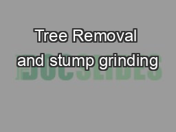 Tree Removal and stump grinding PowerPoint PPT Presentation
