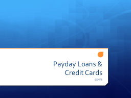 Payday Loans &