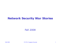 Fall 2008 PowerPoint PPT Presentation
