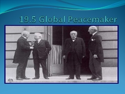 19.5 Global Peacemaker PowerPoint PPT Presentation