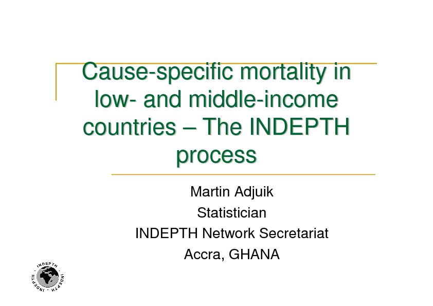 specific mortality in