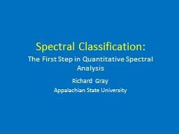 Spectral Classification: