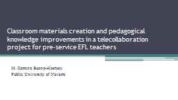 Classroom materials creation and pedagogical knowledge impr