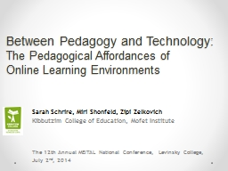 Between Pedagogy and Technology: