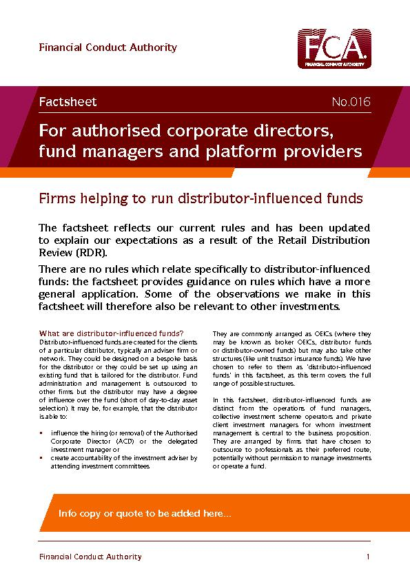 What are distributor-inuenced funds?