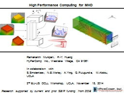 High Performance Computing for MHD PowerPoint PPT Presentation