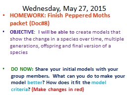Wednesday, May 27, 2015 PowerPoint PPT Presentation