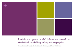 Protein and gene model inference based on statistical model