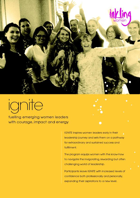 fuelling emerging women leaders with courage, impact and energy ... PowerPoint PPT Presentation