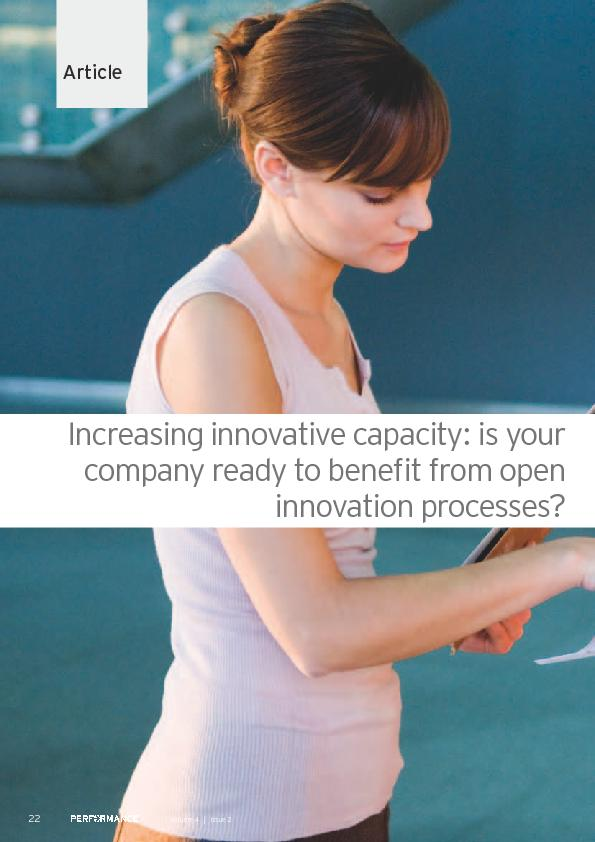 ArticleIncreasing innovative capacity: is your company ready to bene&#