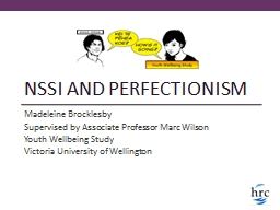 NSSI and PERFECTIONISM