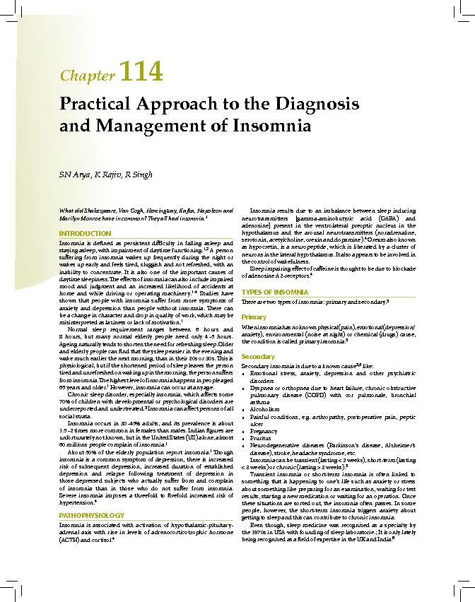 Practical Approach to the Diagnosis