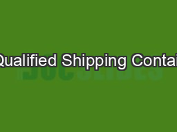 Pre-Qualified�Shipping�Containers