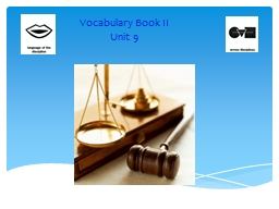 Vocabulary Book II PowerPoint PPT Presentation