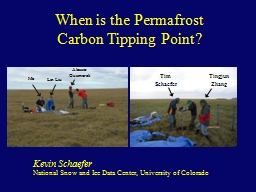 When is the Permafrost Carbon Tipping Point?