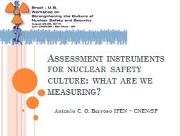 Assessment instruments for nuclear safety culture: what are