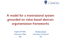 A model for a motivational system grounded on value based a