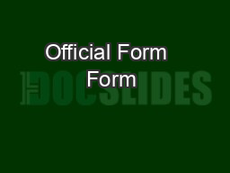 Official Form   Form