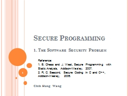 Secure Programming PowerPoint PPT Presentation