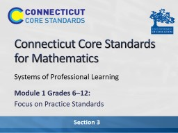 Connecticut Core Standards