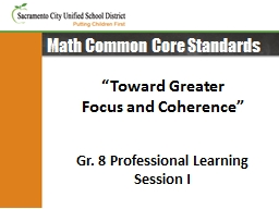 Math Common Core Standards