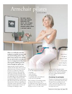 For older adults those with physical limitations and others who struggle with mat routines armchair pilates offers a welcome option by Moira Merrithew The Five Basic Principles of pilates described i