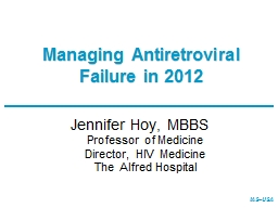 Managing Antiretroviral Failure in 2012 PowerPoint PPT Presentation