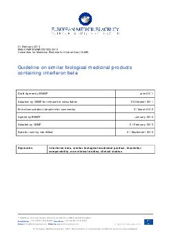21 February 2013EMA/CHMP/BMWP/652000/2010Committee for Medicinal Produ PDF document - DocSlides