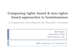 Comparing rights based & non-rights based approaches to