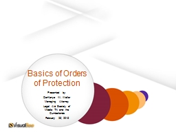 Basics of Orders of Protection PowerPoint PPT Presentation