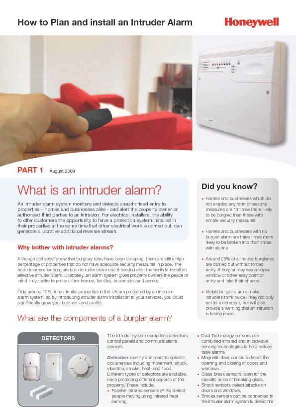 How to Plan and install an Intruder Alarm