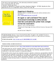 This article was downloaded by The University of British Columbia On  January  At  Publisher Psychology Press Informa Ltd Registered in England and Wales Registered Number  Registered office Mortimer