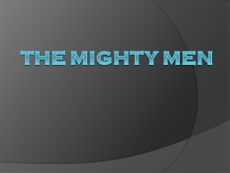 The Mighty Men