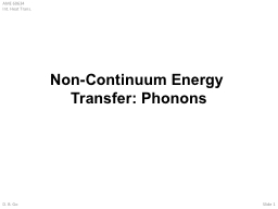 Non-Continuum Energy Transfer: Phonons