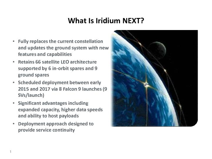 What Is Iridium NEXT?