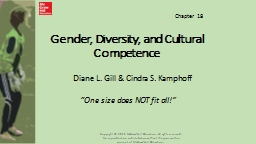 Gender, Diversity, and Cultural Competence