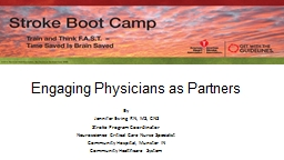 Engaging Physicians as Partners