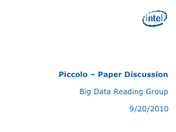 Piccolo – Paper Discussion PowerPoint PPT Presentation