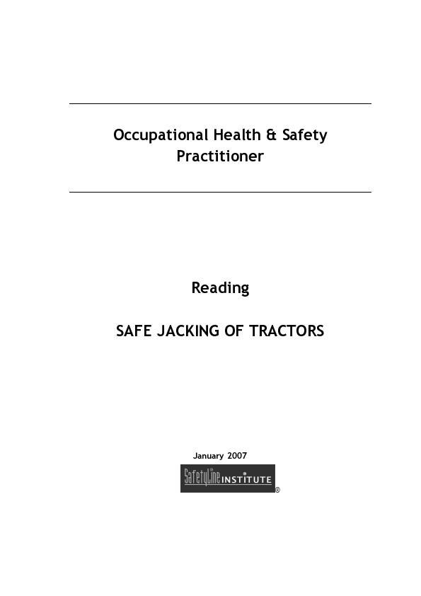Occupational Health & Safety Practitioner