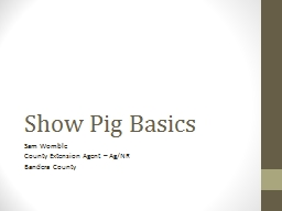 Show Pig Basics PowerPoint PPT Presentation