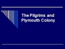 The Pilgrims and