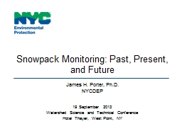Snowpack Monitoring: Past, Present, and Future PowerPoint PPT Presentation