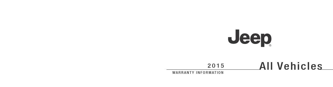 WARRANTY INFORMATIONFirst Edition Rev 1Printed in U.S.A.All Vehicles .