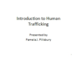Introduction to Human Trafficking PowerPoint PPT Presentation